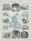 Map of Great Britain with points of interest