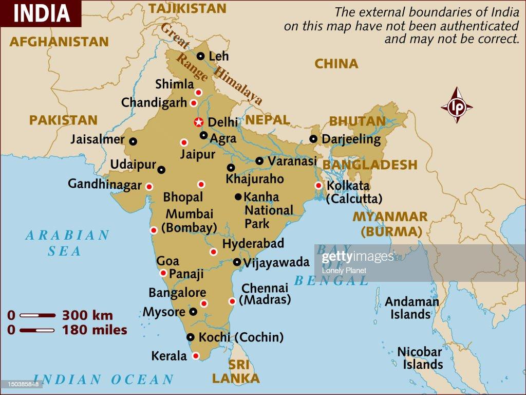 Map of India. : Stock Illustration