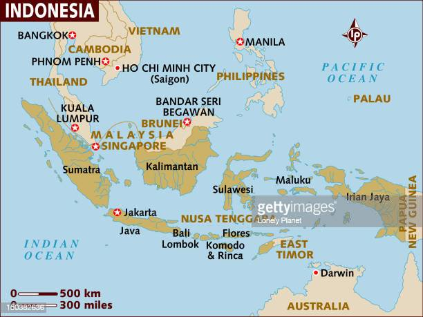 Map of Indonesia.