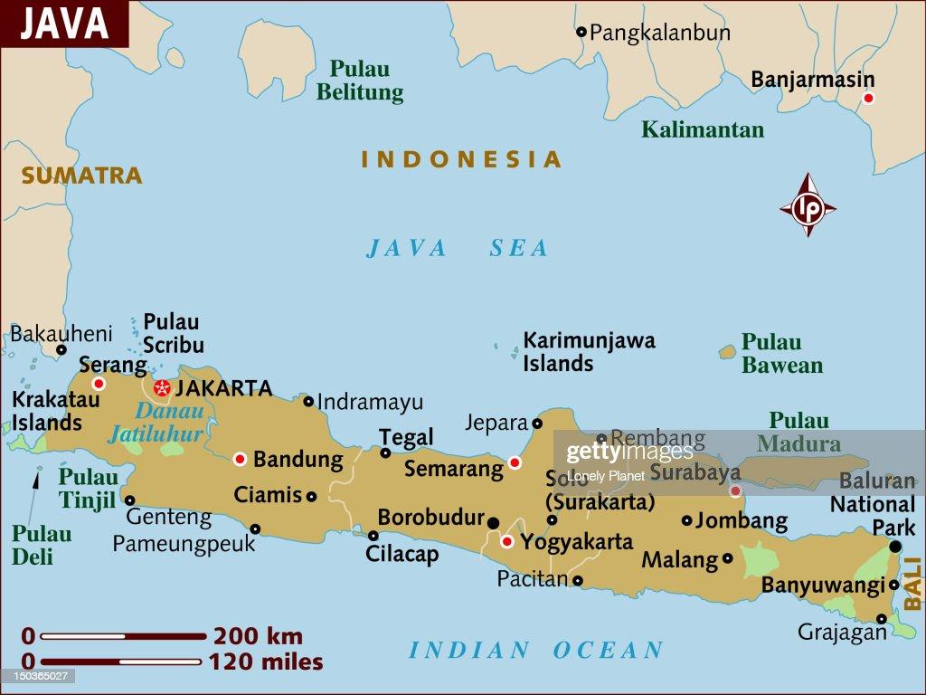 Map of Java. : Stock Illustration