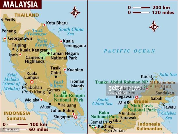 Map of Malaysia.
