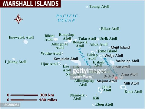 Map Of Marshall Islands Stock Illustration Getty Images - Marshall islands map