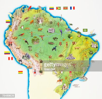 Northern South America Map America Map