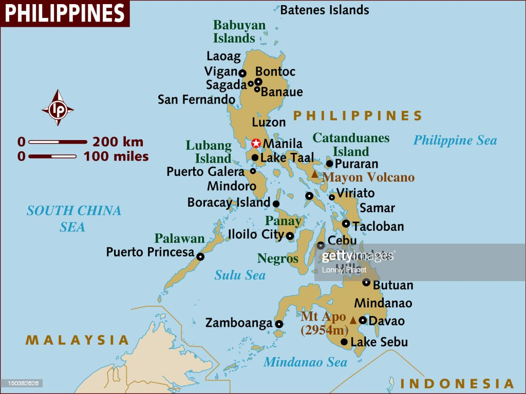 Map Of Philippines Stock Illustration Getty Images - Map of philippines