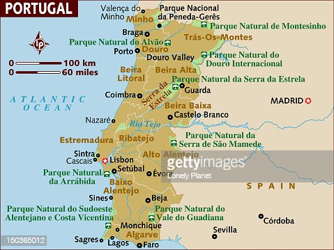 Map Of Portugal Stock Illustration Getty Images - Portugal map minho