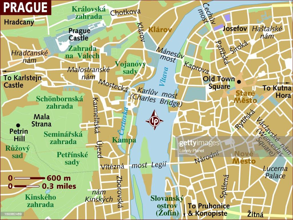Map Of Prague Stock Illustration