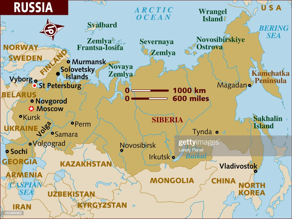 map of russia stock illustration getty images
