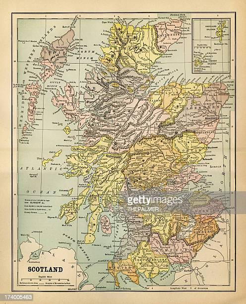 map of scotland 1883