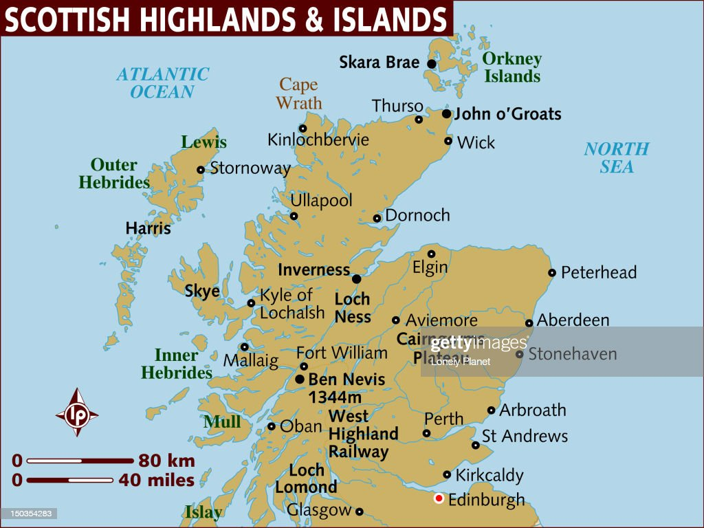 map of scottish highlands and islands stock illustration getty