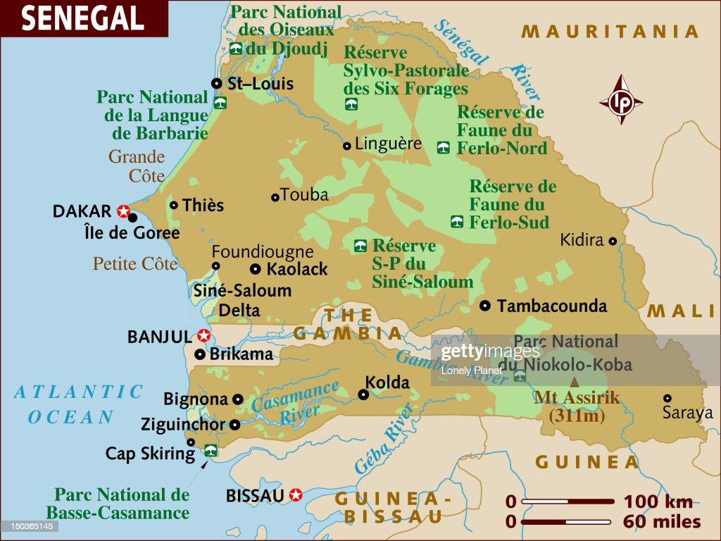 Map of Senegal. : Stock Illustration