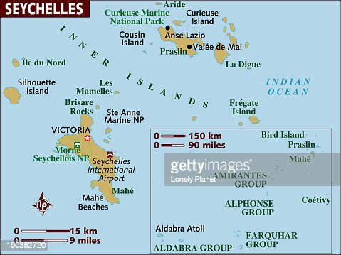 Map Of Seychelles Stock Illustration Getty Images - Seychelles map