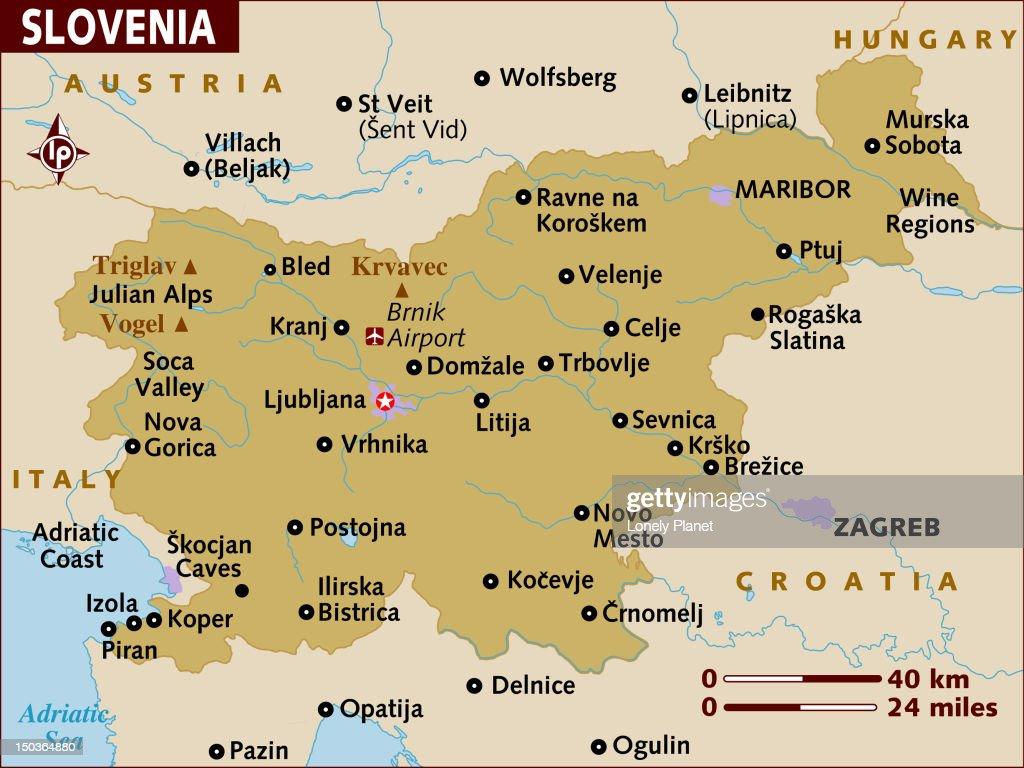 Map of Slovenia. : Stock Illustration
