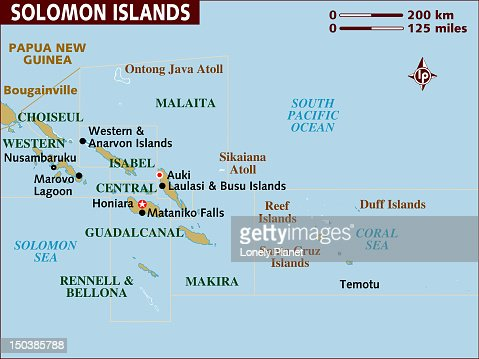 Map of Solomon Islands. : Stock Illustration
