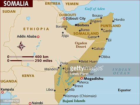 Map of Somalia. : Stock Illustration