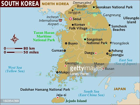 Map Of Japan Stock Illustration Getty Images - Japan map lonely planet