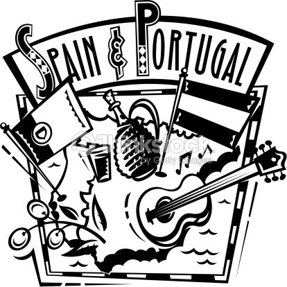 Image result for spain and portugal clipart