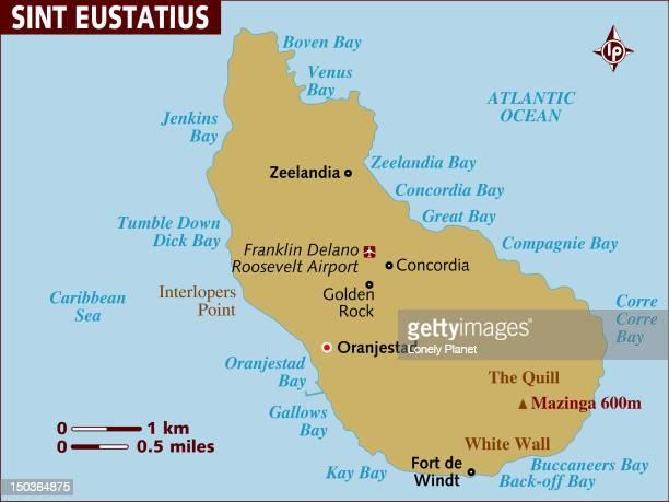 Oranjestad Stock Illustrations And Cartoons Getty Images - Sint eustatius map