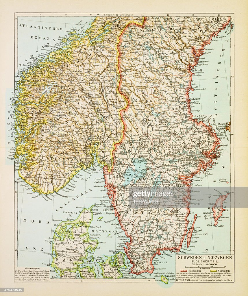 World Cultures Maps Map Of Southern Sweden
