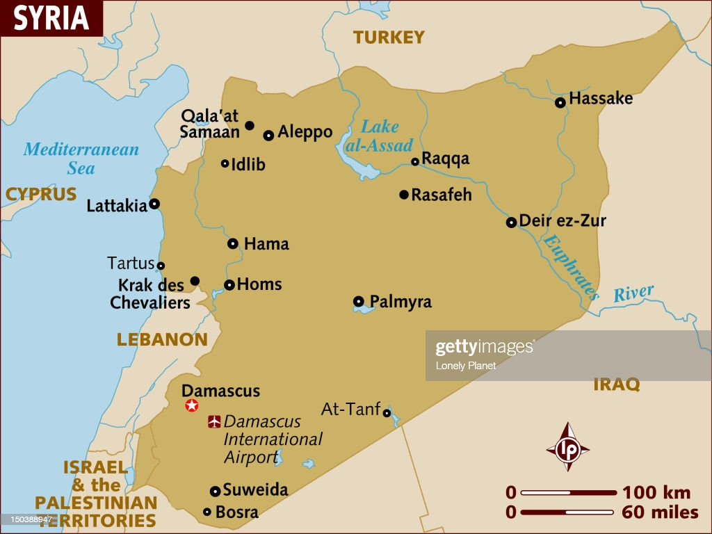 Map Of Syria Stock Illustration Getty Images - Map of syria
