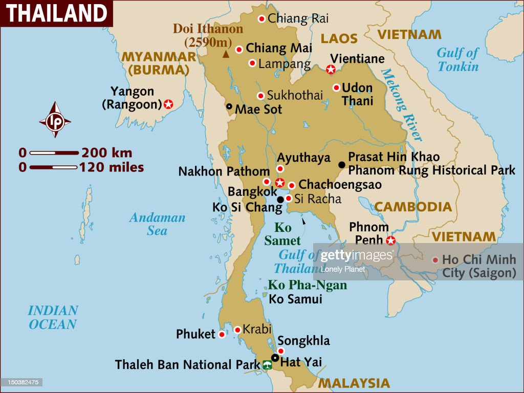 Map of Thailand. : Stock Illustration