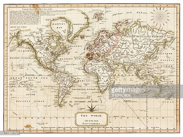 map of the world 1814