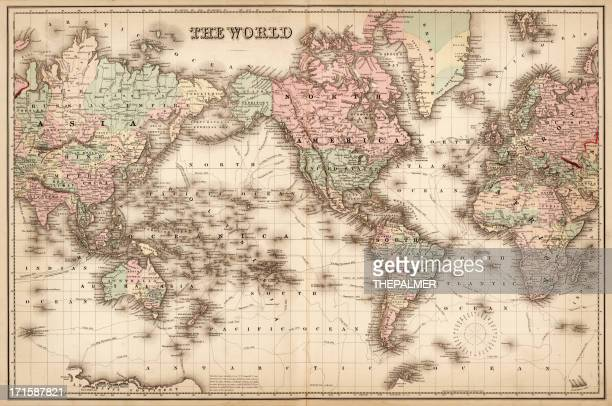 map of the world 1855