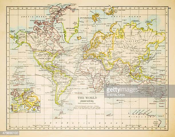 Map of the world 1897