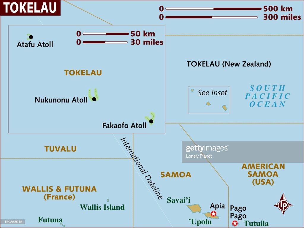 Map Of Tokelau Islands Stock Illustration Getty Images - Tokelau map
