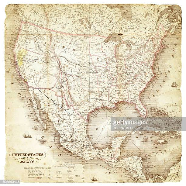 Map of United States and Mexico 1849