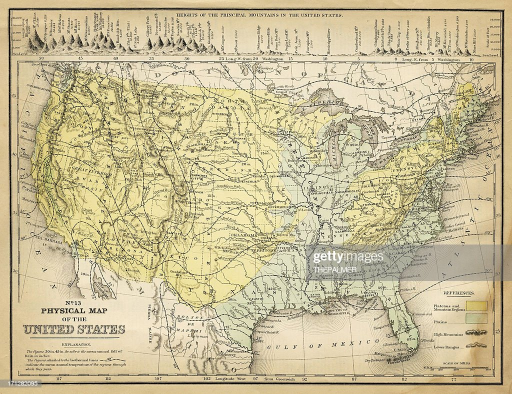 Map Of Usa Stock Illustration Getty Images - 1867 us map