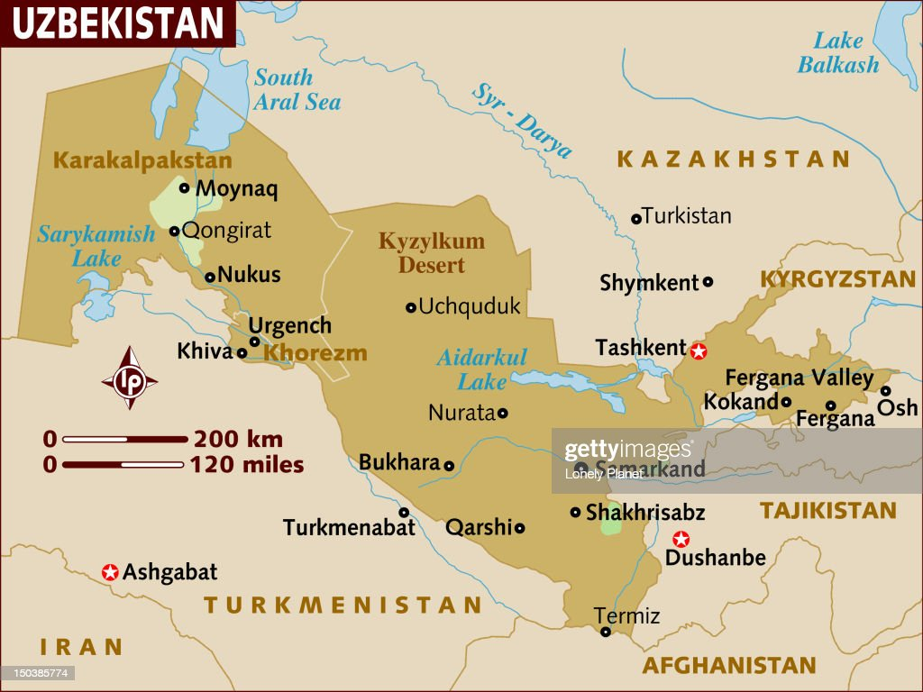 Map of Uzbekistan. : Stock Illustration