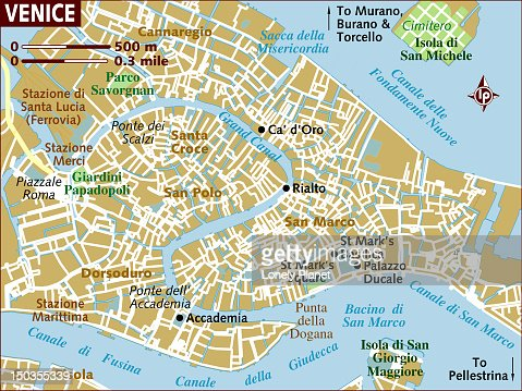 Map Of Venice Stock Illustration Getty Images - Venice map image