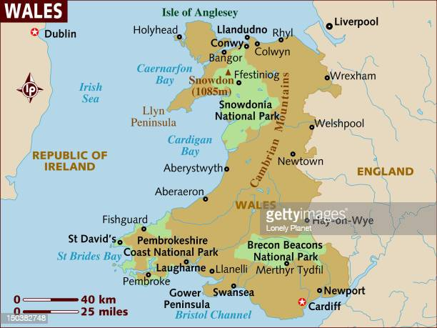 Map of Wales.