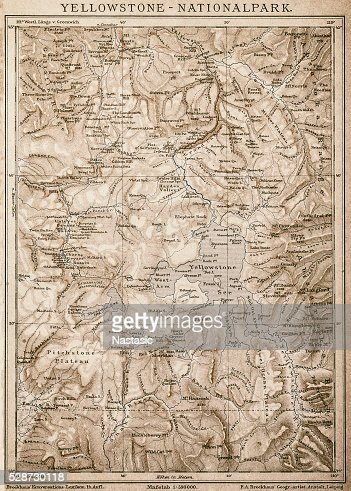 Map Of Yellowstone National Park Usa Stock Illustration Getty Images - Us map yellowstone national park