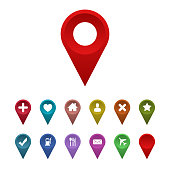 map pointer with place icon