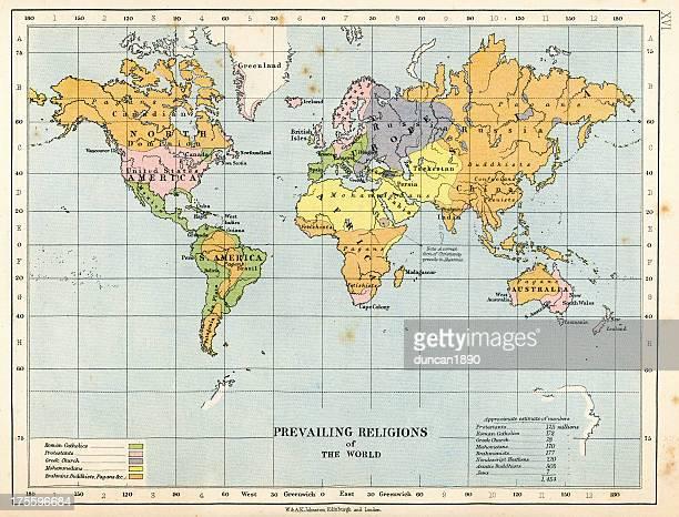 Mapa de las religiones del mundo actual