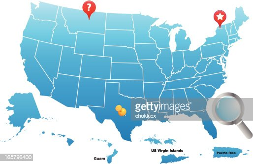 Map Of The United States Of America Territories Vector Art Getty - Map us territories guam puerto rico