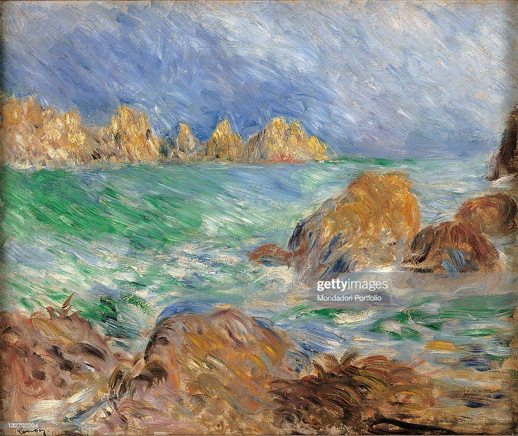 Marine, Guernsey, by Pierre-Auguste Renoir, 1883 about, 19th Century, oil on canvas, cm 46 x 56. : Fine art