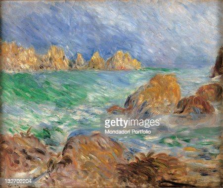 ImagesVideoMarine, Guernsey, by Pierre-Auguste Renoir, 1883 about, 19th Century, oil on canvas, cm 46 x 56.