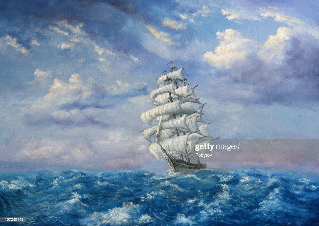 Maritime Adventure : Stock Illustration