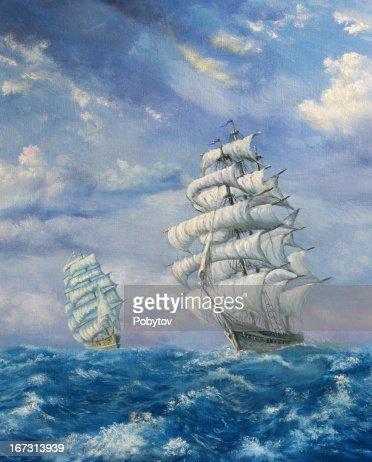 Maritime Abenteuer : Stock-Illustration