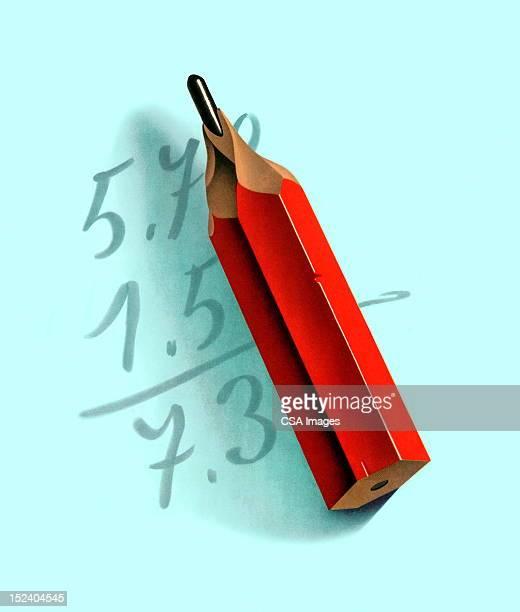 Math Problem and Pencil