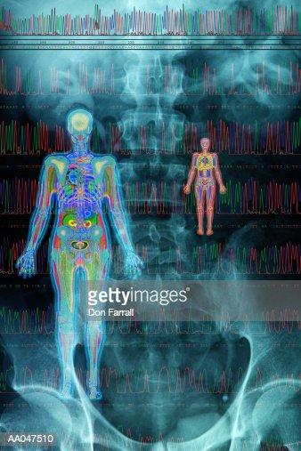 Medical scans (Digital Composite) : Stock Illustration