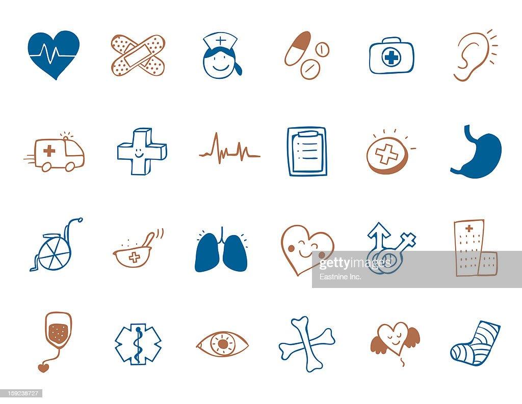 medicine Icon set : Stock Illustration
