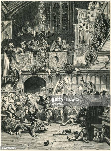 Medieval Christmas festivities