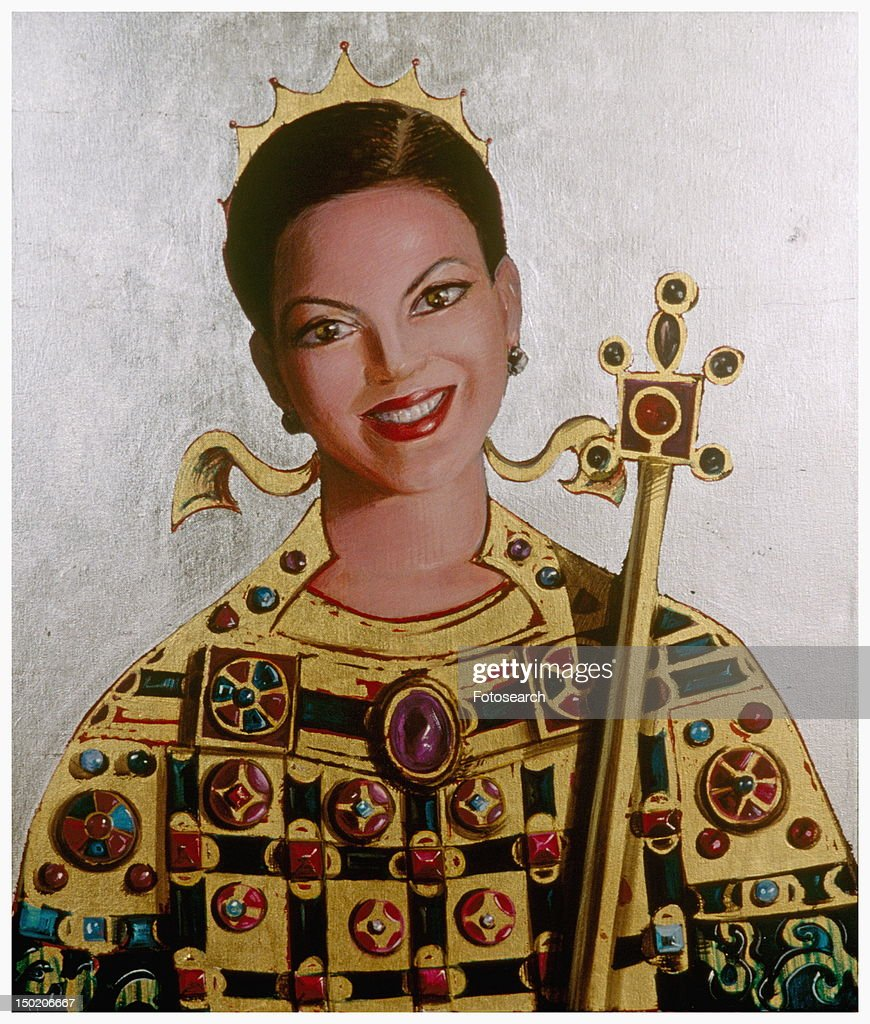 Medieval royal woman : Stock Illustration
