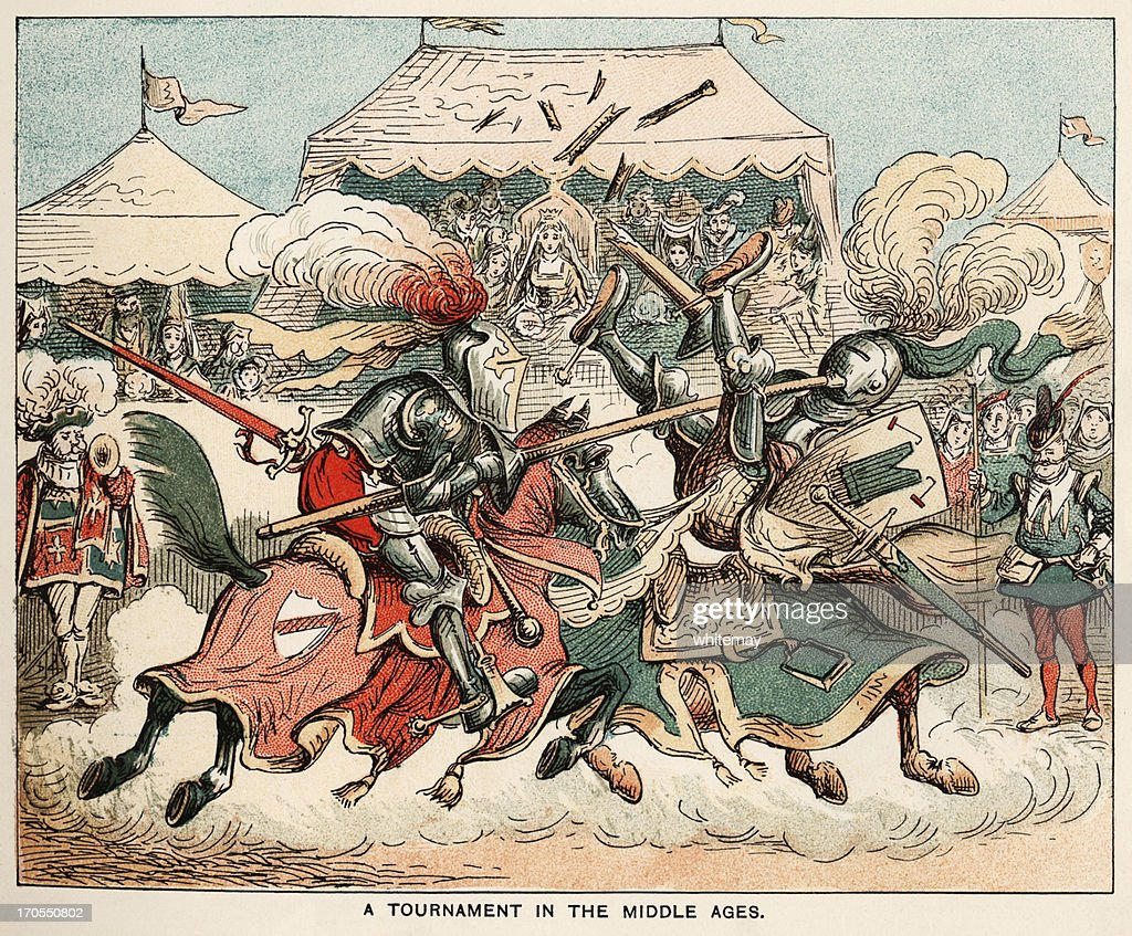 Medieval tournament : Stock Illustration