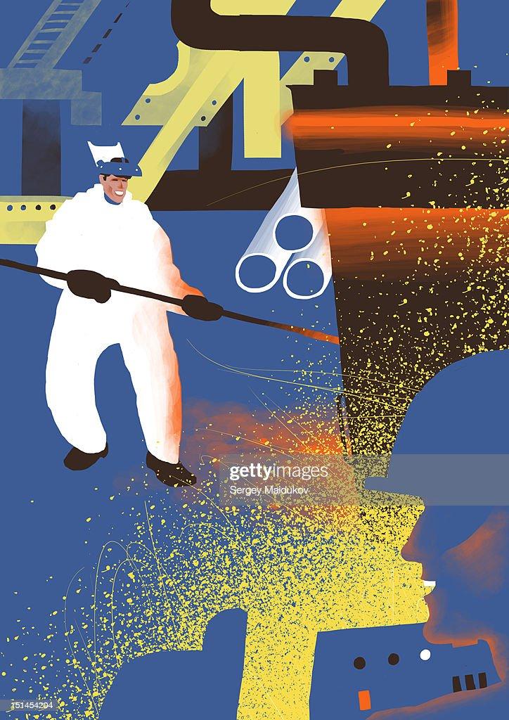 Metallurgy : Stock Illustration