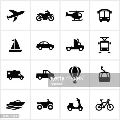 Methods Of Transportation Icons Vector Art Getty Images
