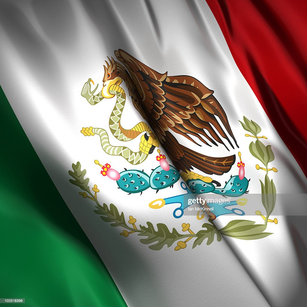 mexican flag stock illustration getty images